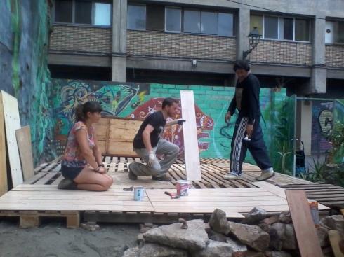 Construcció d'escenari